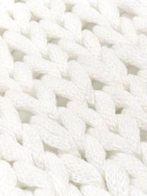 Grobes Strick-Plaid Adyna in Creme, 100% Acryl, Weiß, 150 x 200 cm