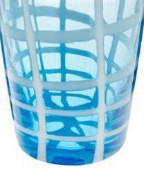 Mondgeblazen waterglazenset Melting Pot Sea, 6-delig, Glas, Blauwtinten, transparant, Set met verschillende formaten