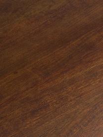Owalny stół do jadalni z litego drewna Archie, Lite drewno mangowe, lakierowane, Drewno mangowe, ciemny lakierowany, S 200 x G 100 cm