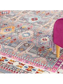 Dywan vintage Kashan, Szary, wielobarwny, S 270 x D 360 cm