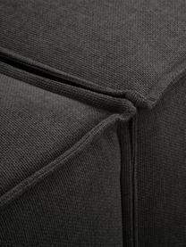 Modulaire bank Lennon (4-zits) in antraciet, Bekleding: polyester De hoogwaardige, Frame: massief grenenhout, multi, Poten: kunststof, Geweven stof antraciet, B 326 x D 119 cm