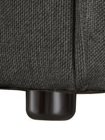 Modulares Sofa Lennon (4-Sitzer) in Anthrazit, Bezug: Polyester Der hochwertige, Gestell: Massives Kiefernholz, Spe, Füße: Kunststoff Die Füße befin, Webstoff Anthrazit, B 327 x T 119 cm