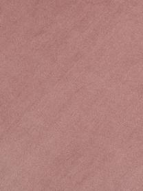 Samt-Polsterstuhl Nelson mit Armlehnen, Bezug: Polyestersamt Der hochwer, Beine: Metall, vermessingt, Altrosa, B 56 x T 55 cm