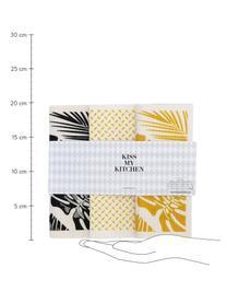 Lingette éponge compostable Malibu, 3élém., Blanc, noir, jaune