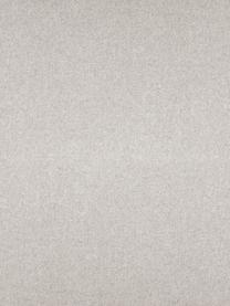 Voetenbank Fluente in beige met metalen poten, Bekleding: 80% polyester, 20% ramie, Frame: massief grenenhout, Poten: gepoedercoat metaal, Geweven stof beige, 62 x 46 cm