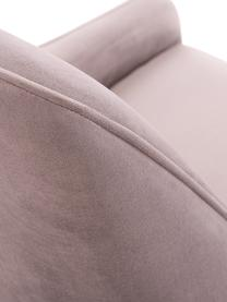 Silla de terciopelo Ava, Tapizado: terciopelo (100%poliéste, Patas: metal galvanizado, Terciopelo malva, An 53 x F 60 cm
