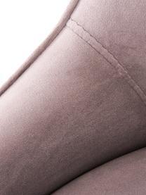 Sedia imbottita in velluto con gambe dorate Ava, Rivestimento: velluto (100% poliestere), Gambe: metallo zincato, Velluto malva, Larg. 53 x Alt. 60 cm
