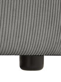 Modulares Ecksofa Lennon in Grau aus Cord, Bezug: Cord (92% Polyester, 8% P, Gestell: Massives Kiefernholz, Spe, Füße: Kunststoff Die Füße befin, Cord Grau, B 327 x T 180 cm