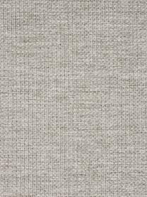 Hoekbank Emma in beige met metalen poten, Bekleding: polyester, Frame: massief grenenhout, Poten: gepoedercoat metaal, Geweven stof beige, poten zwart, B 302 x D 220 cm