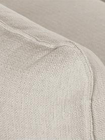 Großes Ecksofa Tribeca in dunklem Beige, Bezug: 100% Polyester Der hochwe, Gestell: Massives Buchenholz, Füße: Massives Buchenholz, lack, Webstoff dunkles Beige, B 274 x T 192 cm