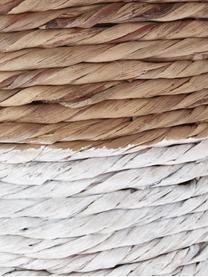 Wasmandenset Mast, 2-delig, Wit, beige, Set met verschillende formaten