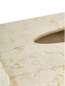 Pudełko na chusteczki z marmuru Luxor, Marmur, Beżowy, S 26 x W 8 cm