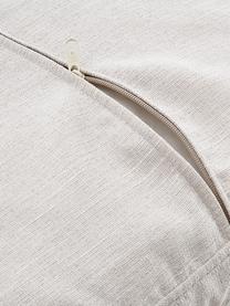 Divano angolare in tessuto beige Carrie, Rivestimento: poliestere 50.000 cicli d, Struttura: trucciolato, faesite, com, Piedini: metallo verniciato, Tessuto beige, Larg. 222 x Prof. 180 cm