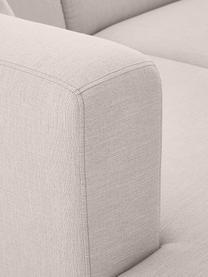 Hoekbank Carrie in beige met metalen poten, Bekleding: polyester, Frame: spaanplaat, hardboard, mu, Poten: gelakt metaal, Geweven stof beige, B 241 x D 200 cm