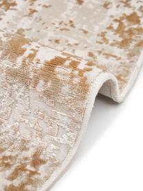 Runder Vintage Teppich Cordoba in Beigetönen, schimmernd, Flor: 70% Acryl, 30% Viskose, Beigetöne, Ø 150 cm (Größe M)