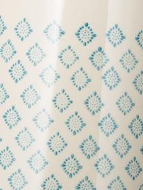 Handbemalter Wasserkrug Patrizia mit verspieltem Muster, 2 L, Steingut, Petrol, Creme, Violett, 2 L