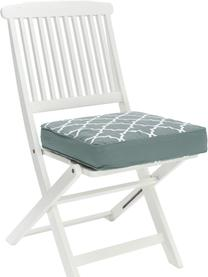 Hohes Sitzkissen Lana in Salbeigrün/Weiß, Bezug: 100% Baumwolle, Grün, 40 x 40 cm