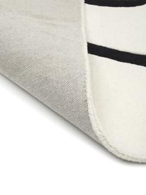 Tapis en laine blanc crème tufté à la main dessin One Line Line, Beige