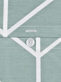 Pościel z bawełny renforcé Mirja, Zielony, kremowobiały, 200 x 200 cm