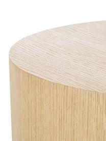 Bijzettafelset Dan van hout, 2-delig, MDF met eikenhoutfineer, Lichtbruin, Set met verschillende formaten
