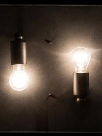 Plafondlamp Aberdeen in industrieel design, Lampenkap: glas, Zwart, transparant, 36 x 16 cm