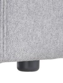 Sessel Lennon in Hellgrau, Bezug: 100% Polyester Der hochwe, Gestell: Massives Kiefernholz, Spe, Füße: Kunststoff Die Füße befin, Webstoff Hellgrau, B 130 x T 101 cm