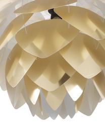 Pendelleuchte Silvia, Bausatz, Lampenschirm: Polypropylen, Baldachin: Kunststoff, Lampenschirm: Messingfarben<br>Schnurpendel: Schwarz, Ø 50 x H 41 cm