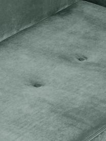 Fluwelen hoekbank Saint (4-zits) in saliekleur met eikenhouten poten, Bekleding: fluweel (polyester) De ho, Frame: massief eikenhout, spaanp, Geweven stof saliekleurig, B 294 x D 220 cm