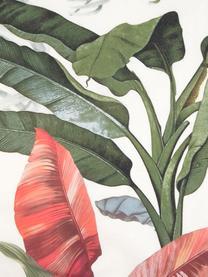 Pościel z perkalu Tropicana, Przód: wielobarwny Tył: kremowobiały, 240 x 220 cm + 2 poduszki 80 x 80 cm