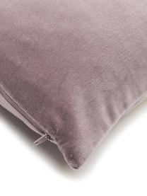 Poszewka na poduszkę z aksamitu Shiny, Aksamit bawełniany, Mauve, odcienie złotego, S 40 x D 40 cm