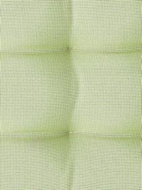 Zweifarbig gewebtes Outdoor-Sitzkissen St. Maxime, Grün, Schwarz, 38 x 38 cm
