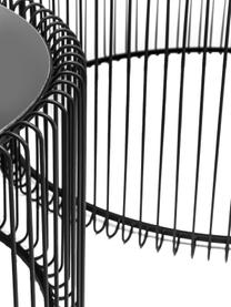 Sada kovových konferenčních stolků se skleněnými deskami Wire, 2 díly, Černá