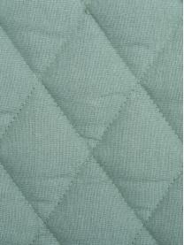 Watowana narzuta z aksamitu Cosima, Szałwiowy zielony, S 160 x D 220 cm (na łóżka do 140 x 200)