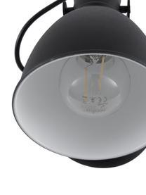 Wandlamp Ethan, Lampenkap: gepoedercoat metaal, Zwart, Ø 15 x H 22 cm