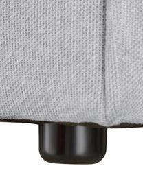 Modulaire chaise longue Lennon in lichtgrijs, Bekleding: polyester De hoogwaardige, Frame: massief grenenhout, multi, Poten: kunststof De poten bevind, Geweven stof lichtgrijs, B 269 x D 119 cm