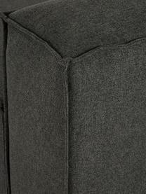 Modulares Ecksofa Lennon in Anthrazit, Bezug: Polyester Der hochwertige, Gestell: Massives Kiefernholz, Spe, Füße: Kunststoff Die Füße befin, Webstoff Anthrazit, B 238 x T 180 cm
