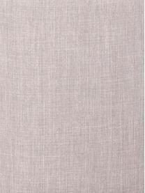 Polsterstuhl Bea in Hellgrau, Bezug: 100% Polyester, Gestell: Metall, Schichtholz, Beine: Eichenholz, massiv, Hellgrau, Eichenholz, B 51 x T 61 cm