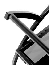 Metall-Servierwagen Loft mit Glasplatten, Gestell: Metall, pulverbeschichtet, Schwarz, 74 x 85 cm