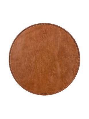 Tovaglietta americana Lia, Pelle, Marrone, Ø 40 cm