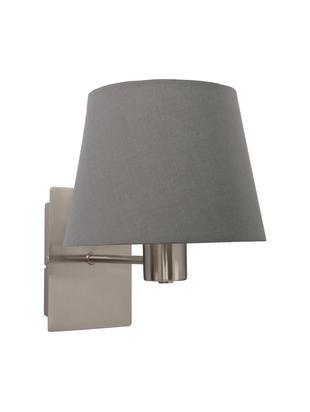 Kinkiet Isa, Stelaż lampy: chrom, klosz: szary, Ø 20 x W 15 cm