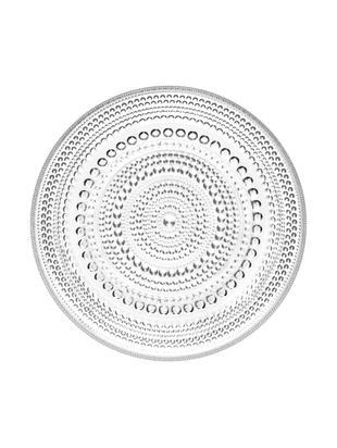 Piatto per pane Kastehelmi, Vetro, Trasparente, Ø 17 cm