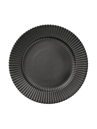 Speiseteller The Lyngby Plate, Porzellan, Schwarz, matt, Ø 27 x H 3 cm