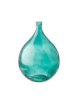 Vloervaas Mikkel van gerecycled glas, Gerecycled glas, Aqua, Ø 40 x H 56 cm