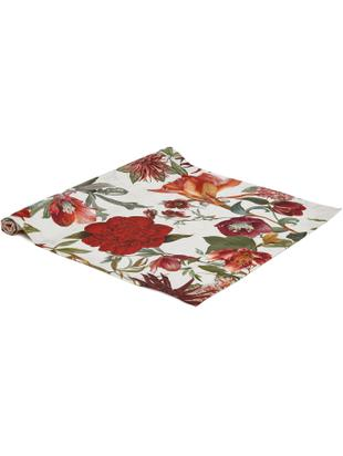 Runner da tavolo Samanta, Cotone, Bianco, rosso, arancione, verde, Larg. 50 x Lung. 140 cm