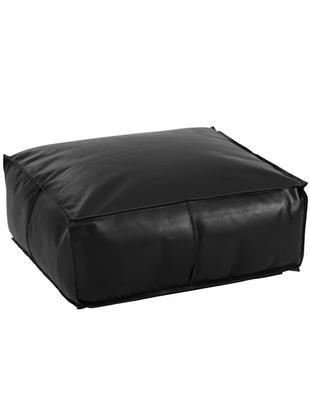 Cuscino da pavimento grande in pelle Arabica, Rivestimento: pelle, Nero, Larg. 70 x Alt. 30 cm