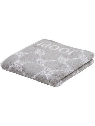 Asciugamano con stampa floreale Classic Cornflower, Cotone (spugna), qualità media 536 g/m², Grigio argento, bianco, Asciugamano