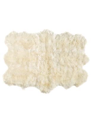 Schaffell-Teppich Reese, Schaffell, Creme, B 152 x L 243 cm (Größe S)