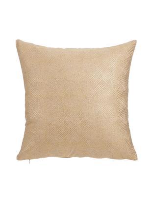 Cojín Camel, con relleno, Poliéster, Crema, dorado, An 45 x L 45 cm