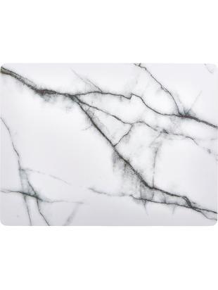 Podkładka z imitacji marmuru Rabla,  2 szt., Płyta pilśniowa średniej gęstości (MDF), korek, Biały, marmurowy, S 30 x D 40 cm