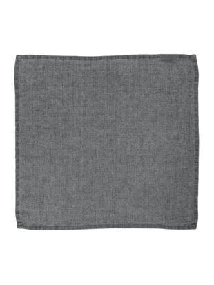 Tovaglioli di lino Ruta, 6 pz., Grigio, P 43 x L 43 cm